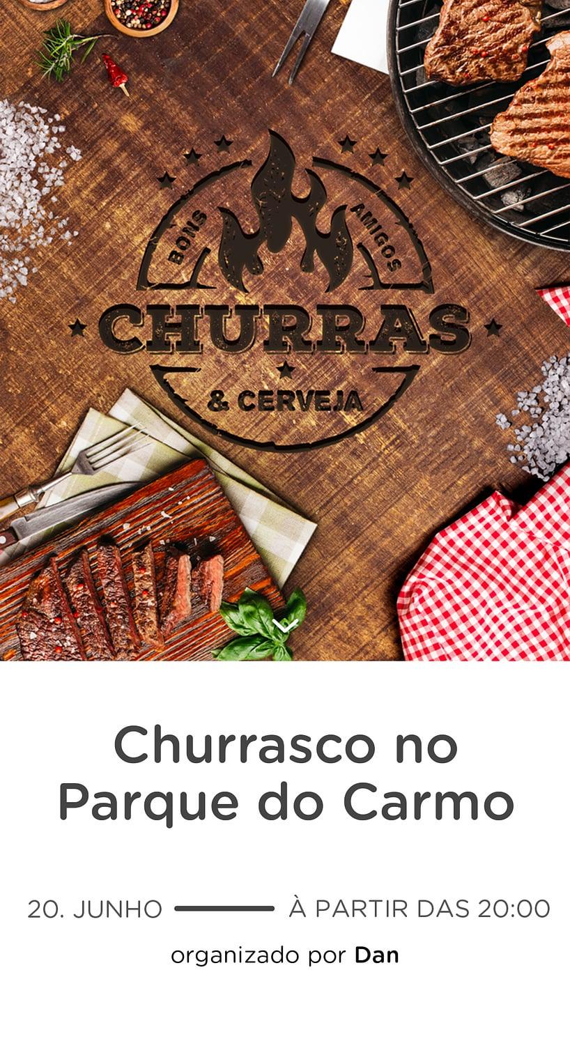 Modelo de convite - Churrasco