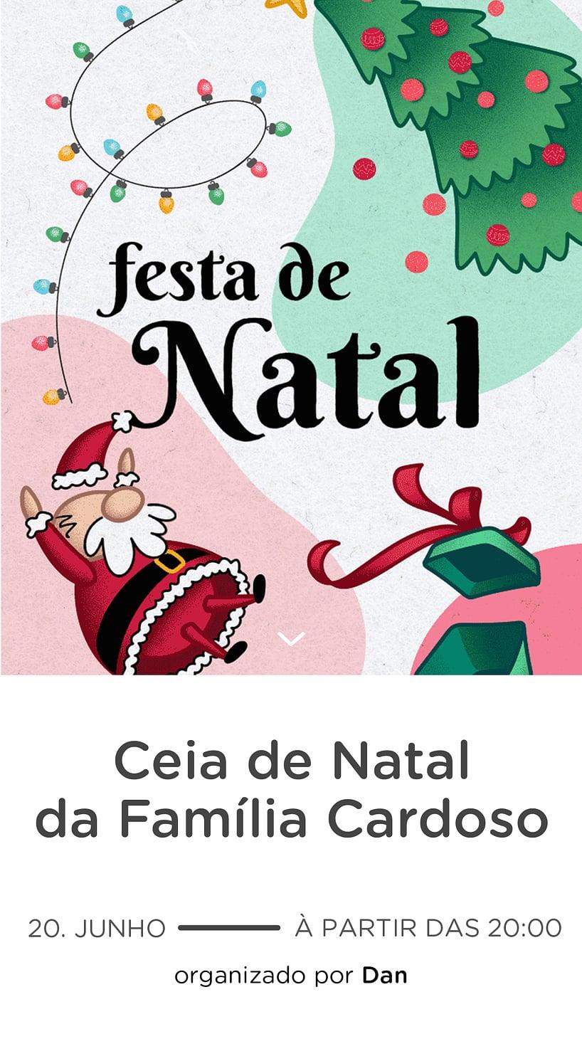 Convite Natal Gratis para Editar