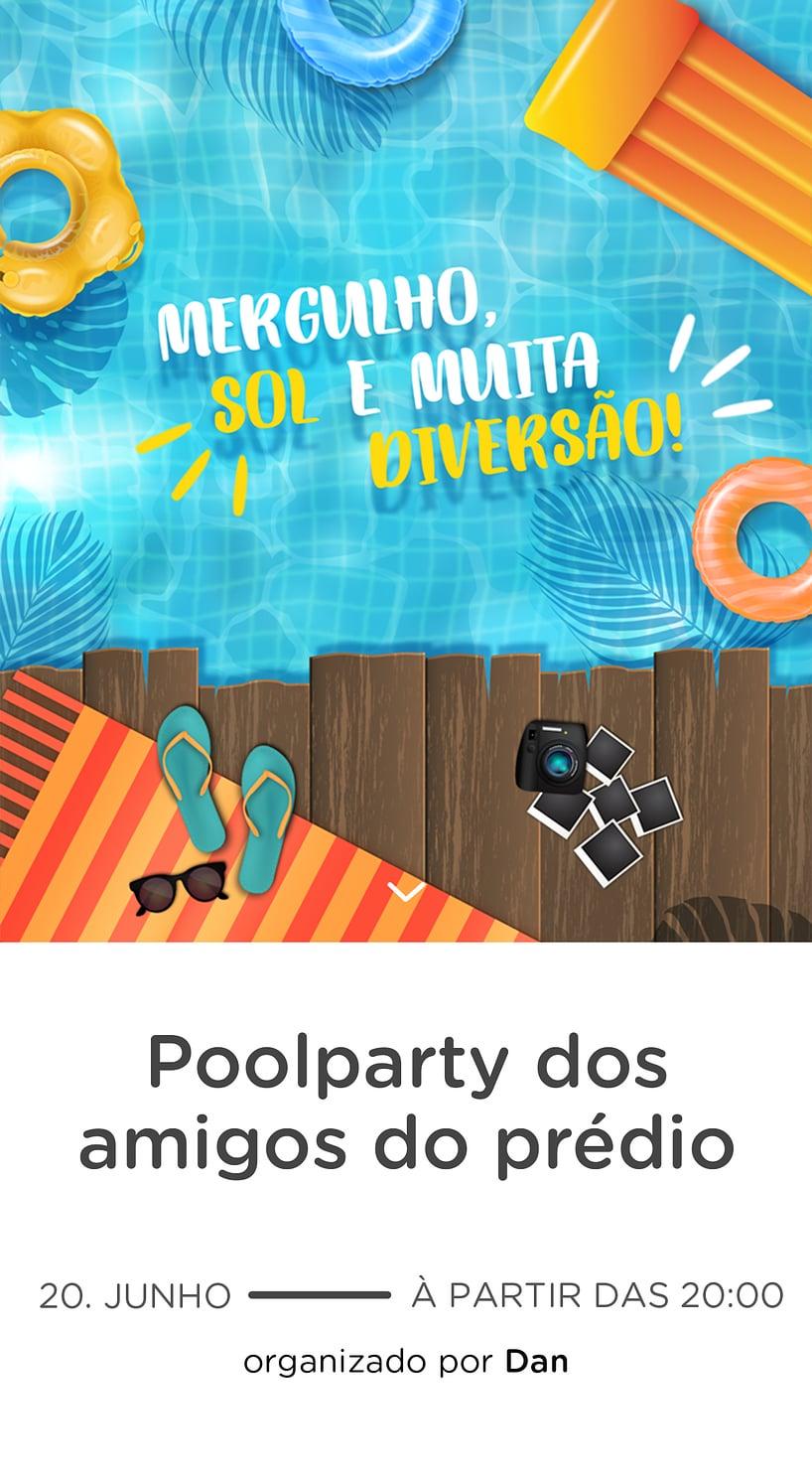 Modelo de convite - Pool Party