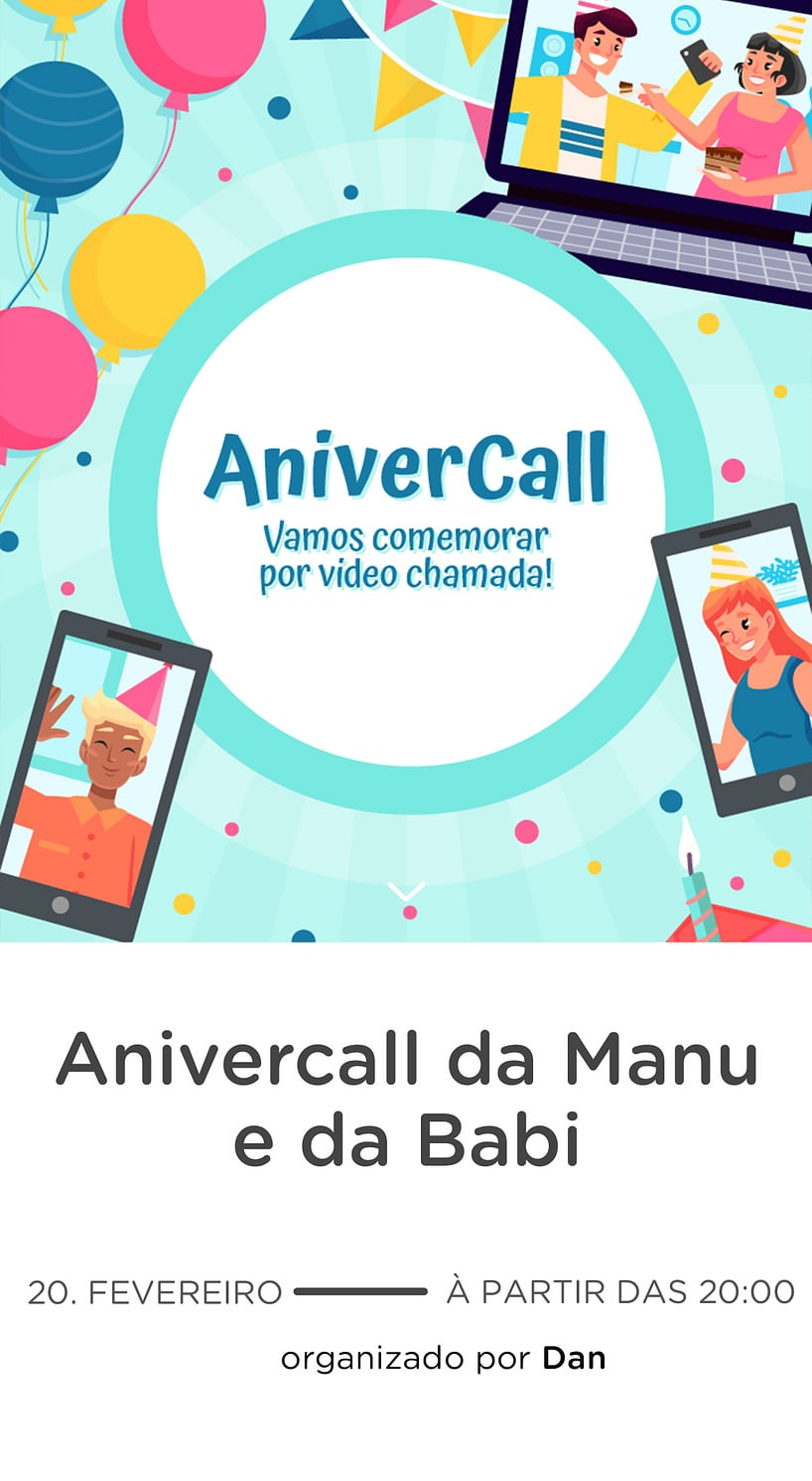 Vibe de Encontro Virtual - Anivercall