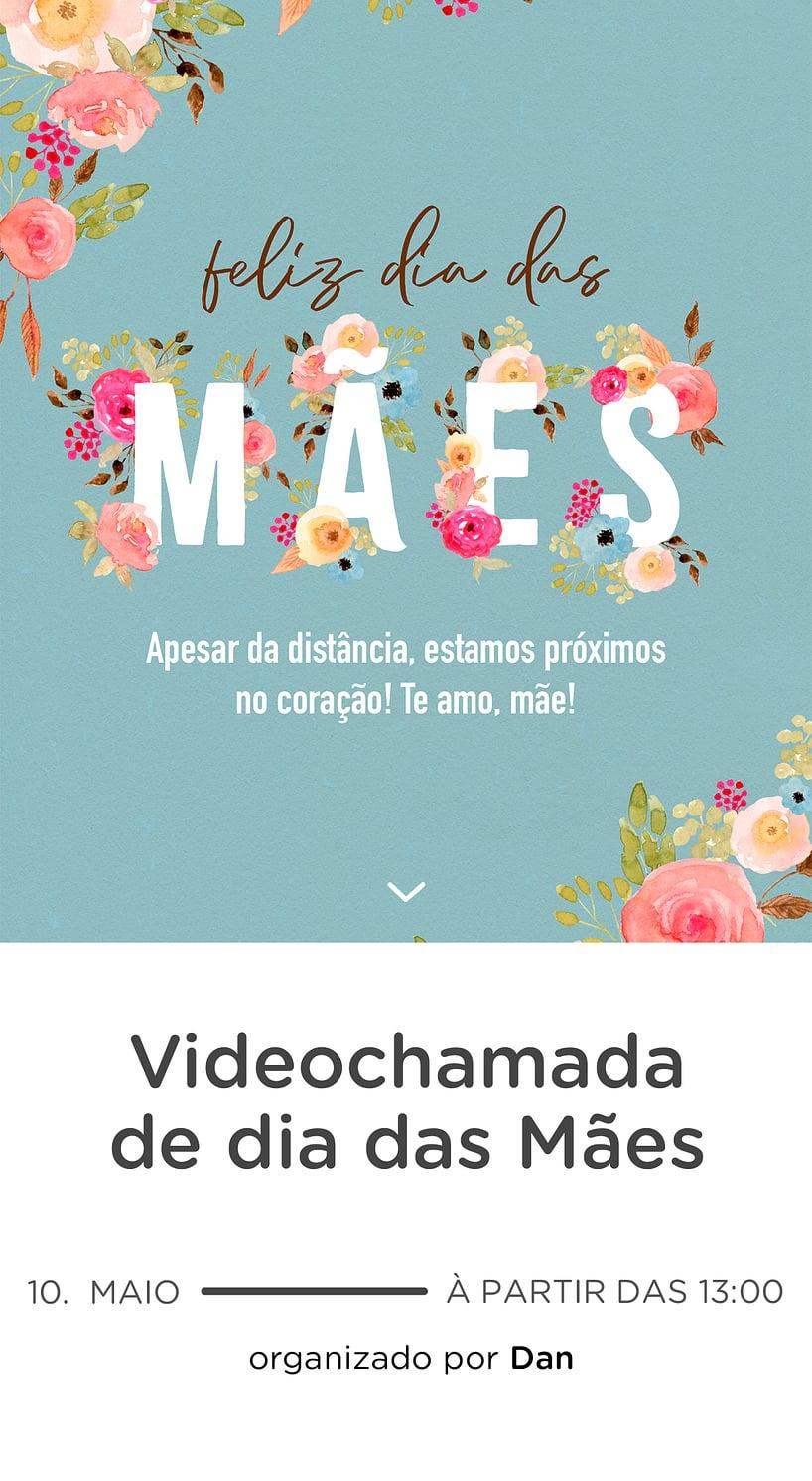 Modelo de convite - Dia das Maes Florido