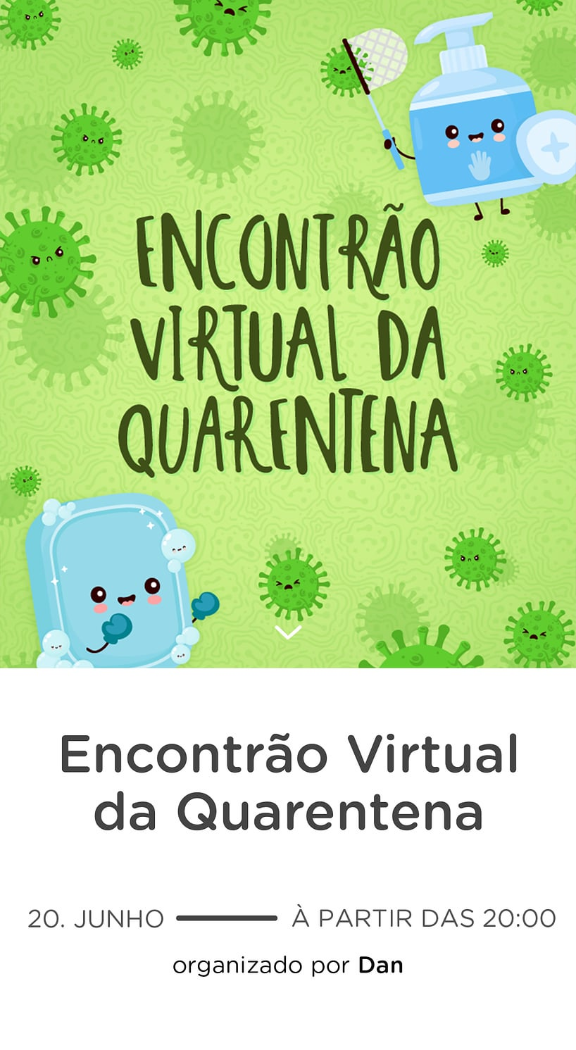 Vibe de Encontro Virtual - Encontro Quarentena