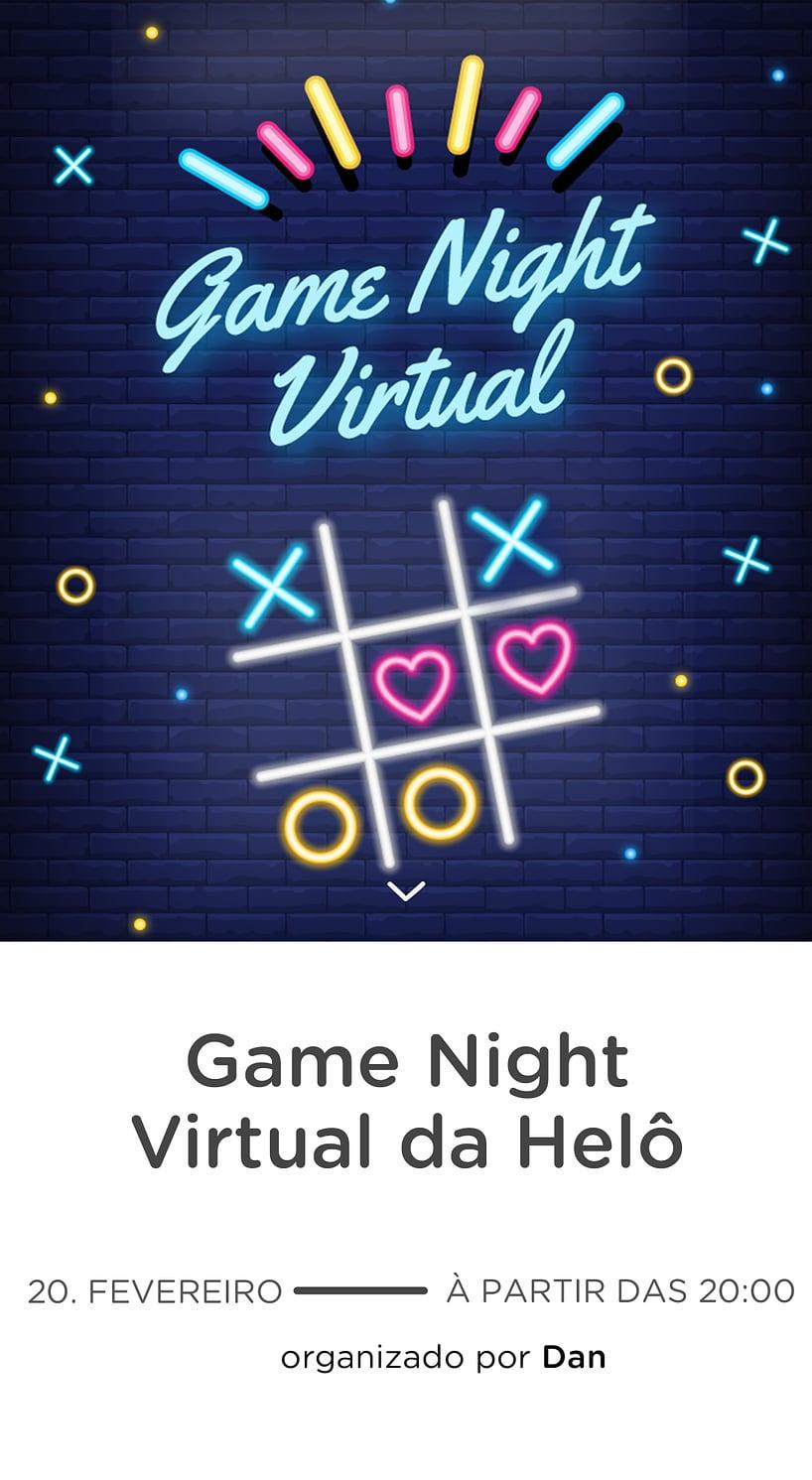 Modelo de convite - Game Night