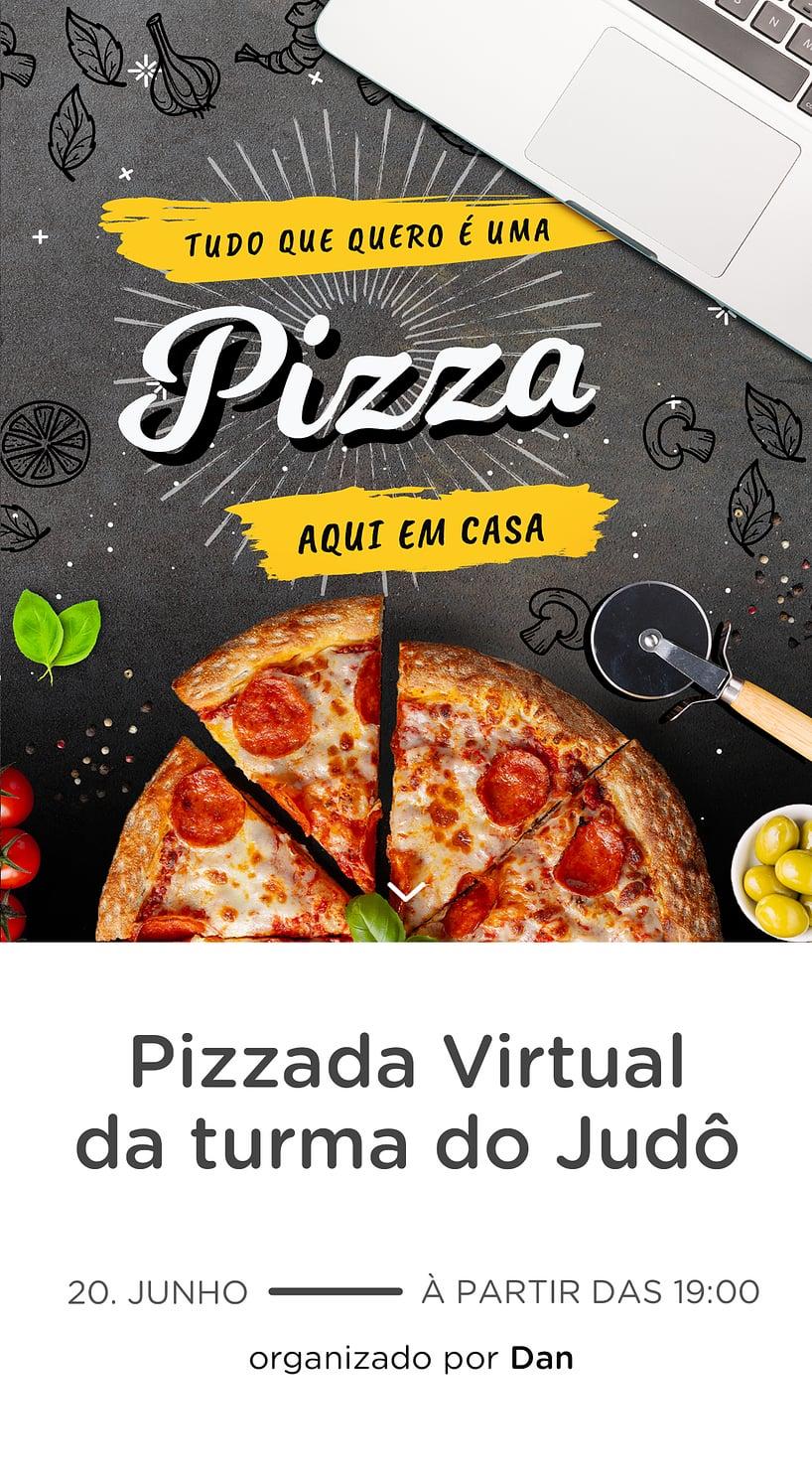 Modelo de convite - Pizza Virtual